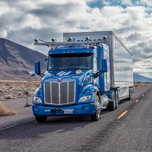 self-driving truck, autonomous, truck